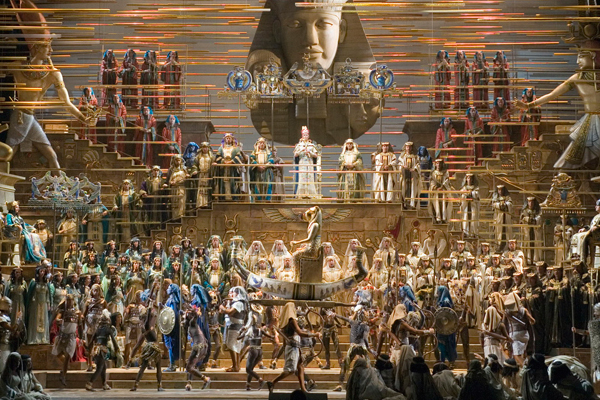 opera aida at Egypt pyramids
