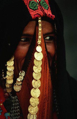 Veiled Bedouin Woman