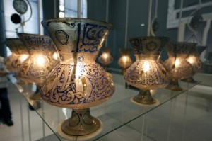 Glass lamps dating back to the Fatimid