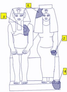 Amenhotep III's double statue