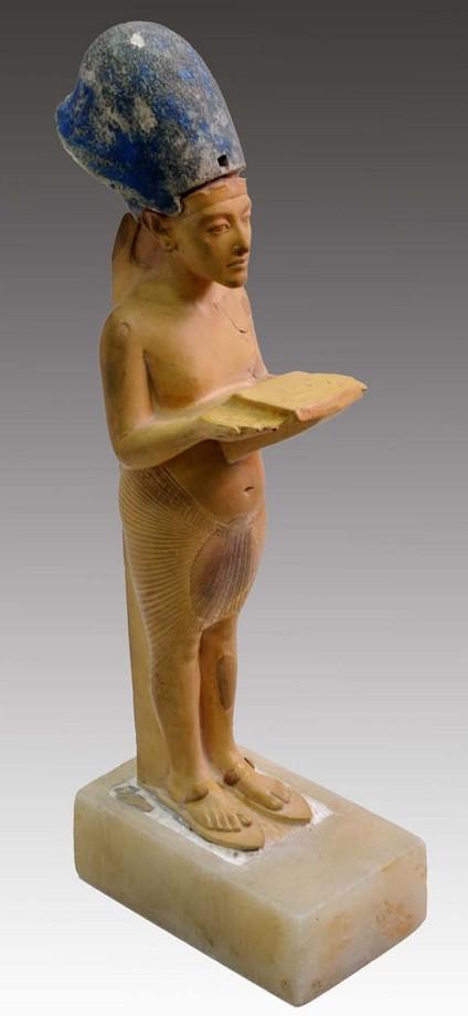 The limestone statue of king Akhenaten