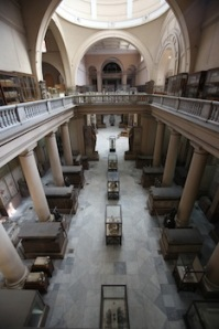 The interior of the Egyptian Museum