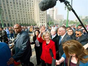 Hillary Clinton in Tahrir Square