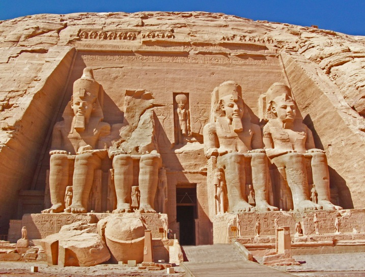 Abu Simbel in Nubia, southern Egypt.
